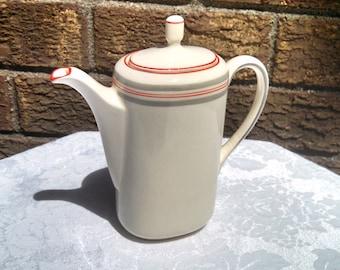 Vintage Czech Coffee Pot Teapot Mocha Pot, Oval Shape, Art Deco Style, Mid Century, Circa 1950s