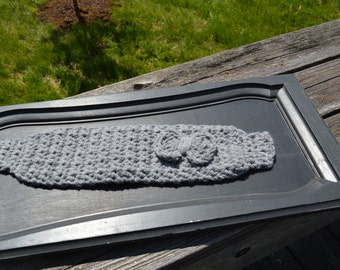 textured cozy thick earwarmer with bow