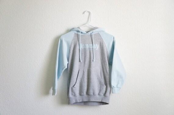 90 39 s heavenly hoodie heavenly baby blue sweatshirt. Black Bedroom Furniture Sets. Home Design Ideas