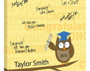 """Graduation Party Signable Canvas as a """"Guest Book""""~ Graduation Gift~Graduation Signature Canvas~Personalized Graduation"""