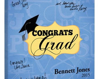 Graduation Party Guest Book~ Graduation Gift~Graduation Signature Canvas~Personalized Graduation Guest Book~