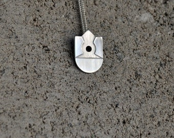 Sterling Silver Geometric Pendant