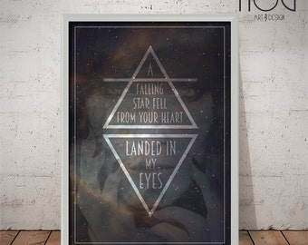 Florence and The Machine Poster - Cosmic Love - Unique Music Poster, Lyrics Print, Wall Art