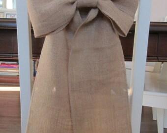 Burlap bows - Set of 10 burlap bows for wedding chairs - Burlap bows for wedding pews - Rustic wedding decor