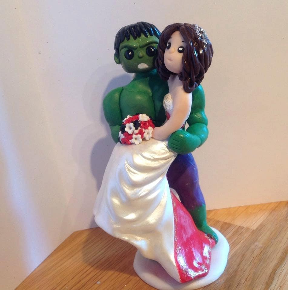 superhero wedding cake topper wedding cake topper personalised 20609