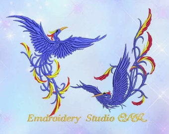 Machine embroidery design Birds of Paradise - embroidery birds - bird - bird embroidery