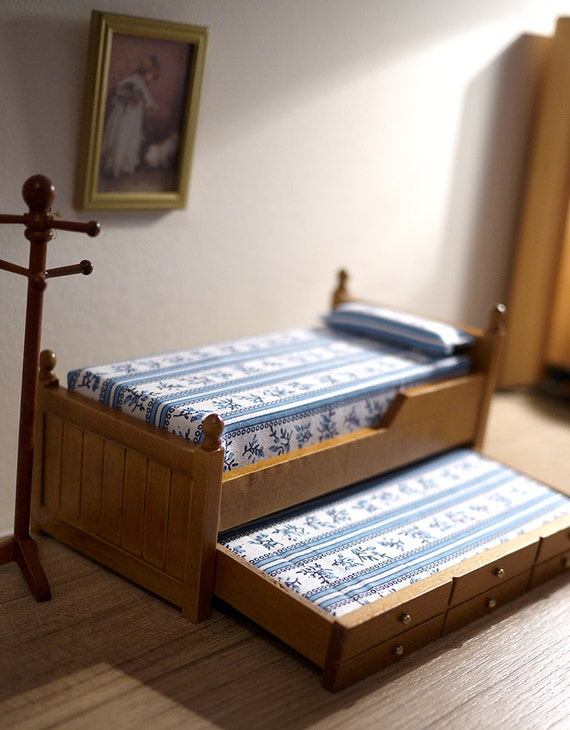 Dollhouse Wooden Daybed Dolls House Doube Deck By