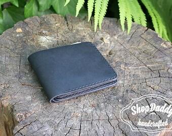 Slim Wallet, Mens Leather Wallet, Leather Wallet, Billfold, Black Wallet, Thin Wallet