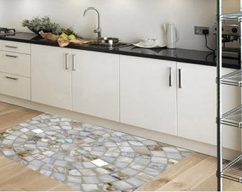 Pvc rug  / Kitchen rug - model crystals -  pvc rug / kitchen floor mat / kitchen mat, linoleum rug, kitchen mat floor