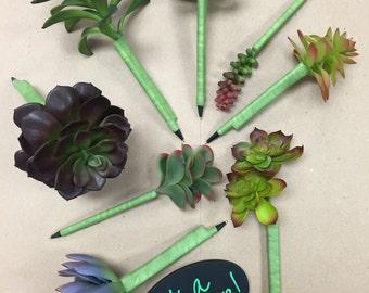 Succulent Artificial Flower Pens