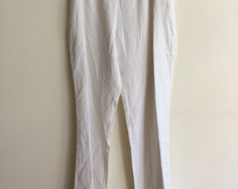 Plus Size - Linen Pant With Fold Over Waist Band