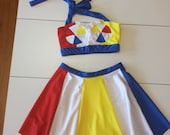 "MADE TO ORDER Girls Size Katy Perry ""Beach Ball"" Inspired 2 piece Top and Skirt"
