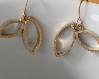 Fibonacci Earrings 2x1 Dangle 14k Gold