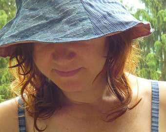 reversible tulip sun hat -- made to order