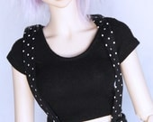 Doll SD BJD clothes Black Crop Top T shirt MonstroDesigns