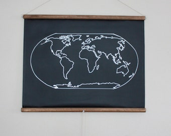 Chalkboard United States Map LARGE SIZE USA Map - Map of the us poster size