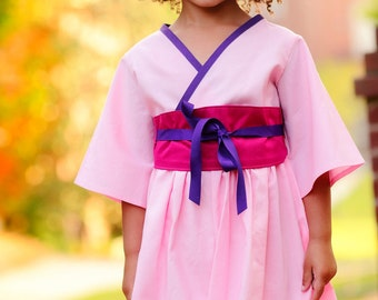 Girls Princess Mulan Costume - Toddler Girls Costume - sizes 2T to 8 years - Birthday Outfit - Princess Birthday Party - Kids Costumes