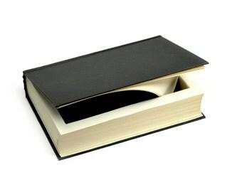 "Large Black Music Hollow Book Box ""How Music Grew"" Vintage Musical Theme Secret Book Shelf Storage Birthday Groomsmen Gift - READY TO SHIP"