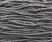 6/0 Opaque Gray Luster Czech Glass Seed Bead Strand (CW195)