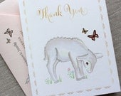 Custom Listing for Rita — Lamby Thank You Notes