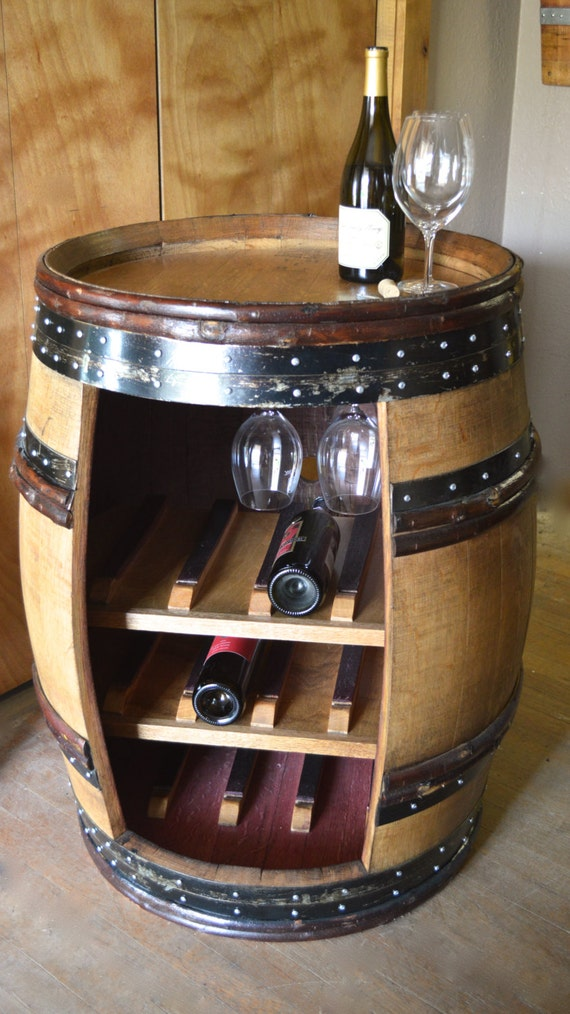 Deluxe Wine Barrel Cabinet