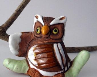 Vintage Owl Figurine by Casals Peru