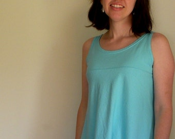 Womens Jersey Knit Tank Top Made to Order - Handmade in the USA - Charlottesville