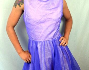 Vintage 1960s Purple Go Go Mod Mini Party Dress