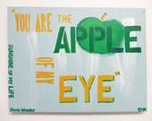 Childrens room Decor // Original Painting- Stevie Wonder's lyrics // Classic rock, Loving quote, Great Saying for a Gift