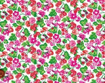 Liberty Tana Lawn Fabric - Liberty Japan, Momoko Blackberry, Liberty Print Cotton Scrap, Kawaii Quilting - ntkitty79f