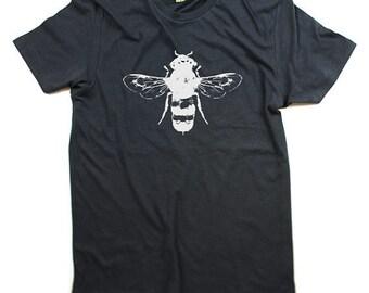 Men Tshirt Honey Bee - Organic Cotton T shirt - Mens - Small, Medium, Large, XL, XXL -  Clothing