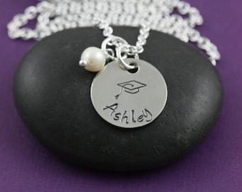 SALE - Personalized Graduate Jewelry - Graduation Gift - Graduation Necklace - Class of 2016 - Senior Class High-Grad Gifts-Congratulations