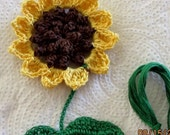 Crochet Sunflower Bookmark Doily