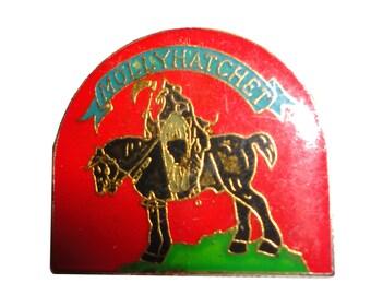 MOLLY HATCHET vintage enamel pin death dealer frazetta heavy metal hard rock