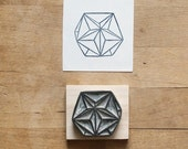 Sacred Geometry No. 4 - Hand Carved Rubber Stamp