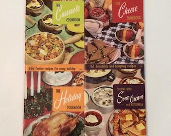 1960's Vintage Cookbooks - Culinary Arts Institute set of 4