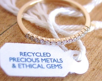 Diamond Anniversary Band 14k Recycled Metals Ethical Gems