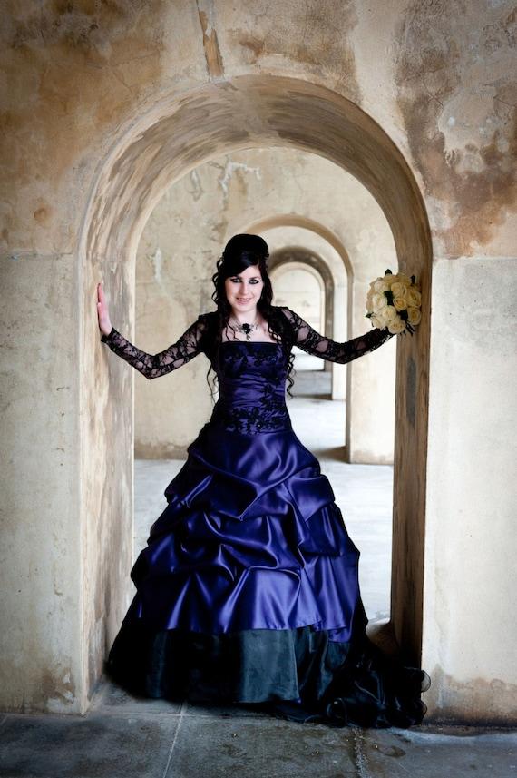 Stunning Purple Gothic Wedding Dress by WeddingDressFantasy