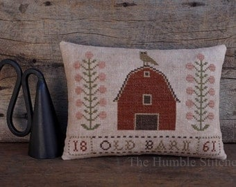 Old Barn...Primitive PAPER Cross Stitch Pattern By The Humble Stitcher