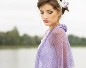 Lavender Scarf Linen Shawl Bridesmaids Stole Sheer Wedding Shawl Linen Gauze Wrap Knitted Lace Scarf