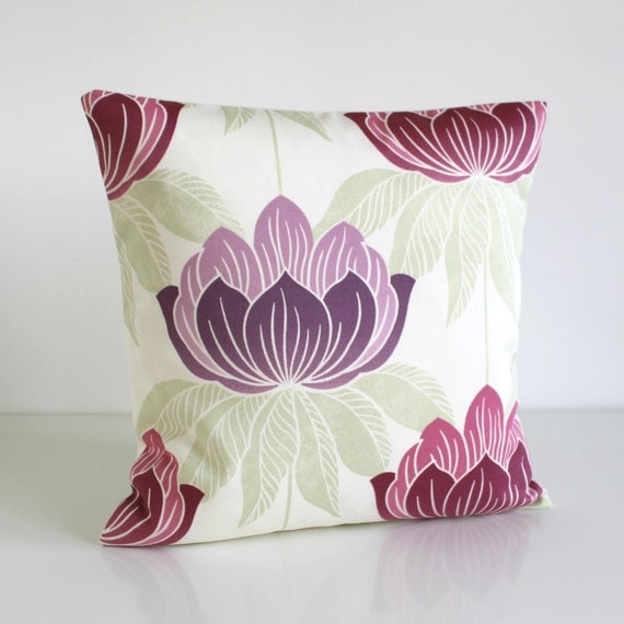 15 Inch Throw Pillow Covers : Floral pillow cover 16 inch throw pillow cushion cover