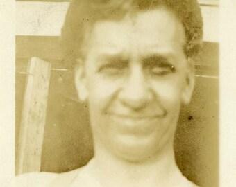 "Vintage Photo ""Peter's Selfish"" Snapshot Photo Antique Photo Black & White Photograph Found Photo Paper Ephemera Vernacular - 160"