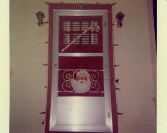 "Vintage Photo ""Santa Door"" Snapshot Photo Old Antique Photo Black & White Photography Found Photo Paper Ephemera Vernacular - 102"