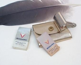 Vintage Razor | Gillette Razor Kit | Safety Razor | Ladies Travel Razor with Case | Blade Box