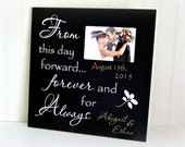 Personalized Wedding Frame-Gift for Bride and Groom-Personalized with Names and Date-Custom Wedding Gift