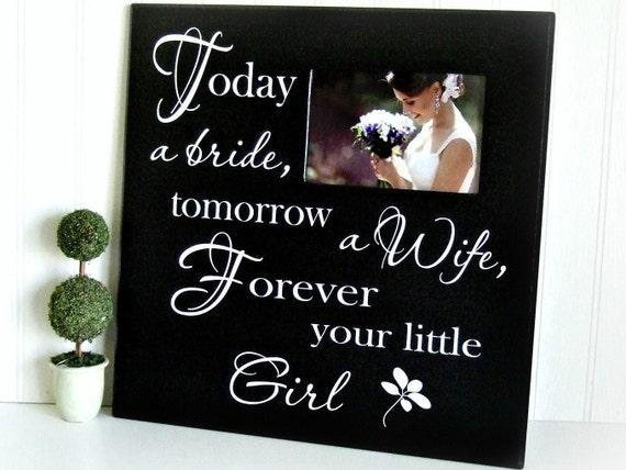 Wedding Picture Frame/ Today a Bride/ Wedding Photo Frame/Wedding Gift ...