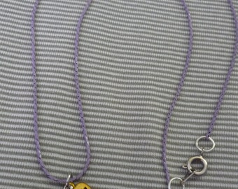 Made with Love purple necklace