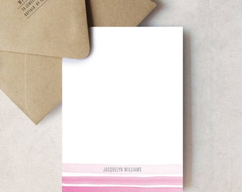Ombré Stripe, Personalized Stationery