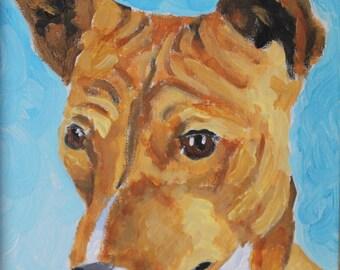 Basenji Painting - Original Dog Art - 8x10 Acrylic Painting - Basenji Portrait