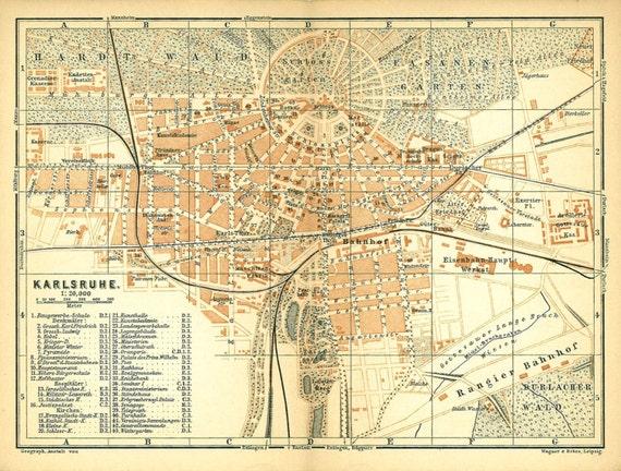 Street map Karlsruhe Germany